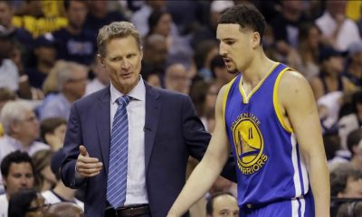 Steve Kerr and Klay Thompson